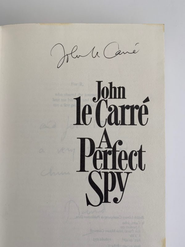 john le carre a perfect spy first uk edition 1986 signed img 8537 e1563313783513
