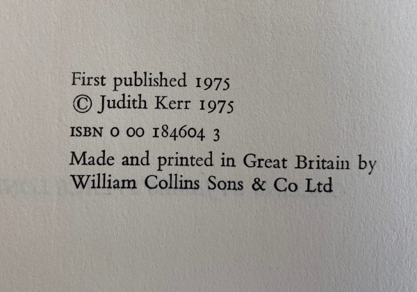 judith kerr out of the hitler time trilogy pink rabbit other way small person first editions img 8773