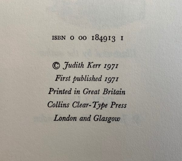 judith kerr out of the hitler time trilogy pink rabbit other way small person first editions img 8774