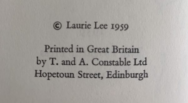 laurie lee cider with rosie first uk edition 1959 img 0815 2