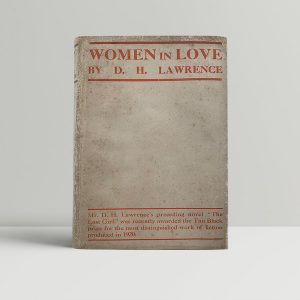lawrence d h women in love first uk edition 1921