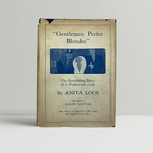 loos anita gentlemen prefer blondes first uk limited signed 1926