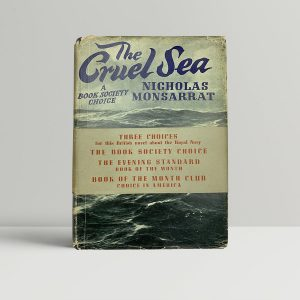 nicholas monsarrat the cruel sea first uk edition 1951 wrap around band