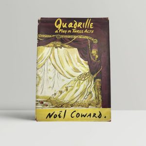 noel coward quadrille first uk edition signed and dated 1952