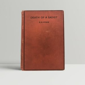 r r ryan death of a sadist first uk edition 1937