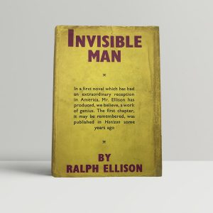 ralph ellison invisible man first uk edition 1953