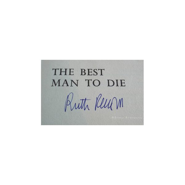 rendell ruth the best man to die first uk edition 1969 2