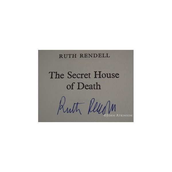 rendell ruth the secret house of death first uk edition signed 2