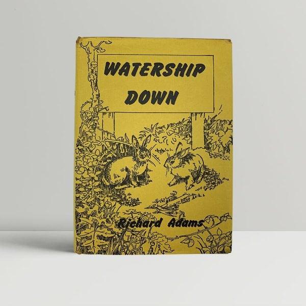 richard adams watership down first uk edition 1972 signed