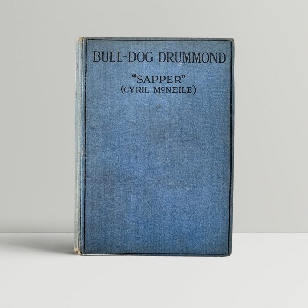 sapper cyril mcneile bull dog drummond first uk edition 1920