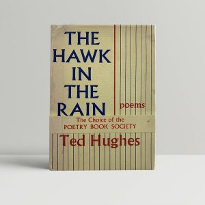 ted hughes the hawk in the rain first uk edition signed 1957