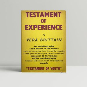 vera brittain testament of experience first uk edition 1957