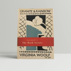 woolf virginia granite and rainbow first uk edition 1958