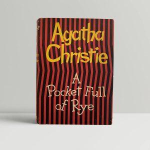 Agatha Christie A Pocketful Of Rye First Edition