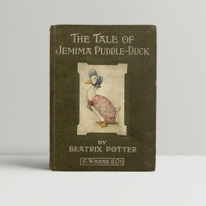 Beatrix Potter The Tale Of Jemima Puddle Duck First Edition