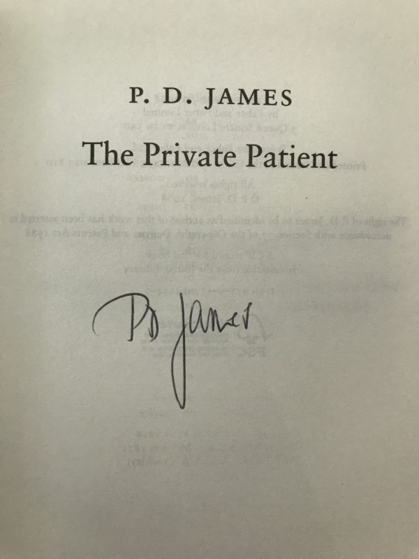 pd james the private patient signed first edition2