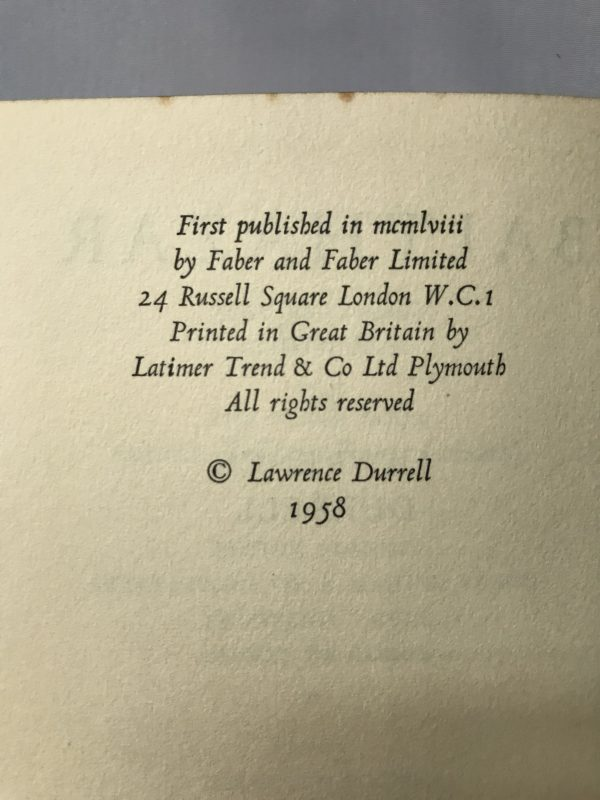 lawrence durrell balthazar first edition2