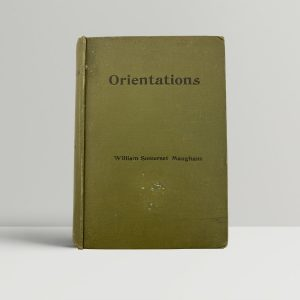Somerset Maugham Orientations First Edition