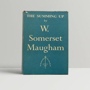 Somerset Maugham The Summing Up First Edition