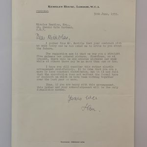 Ian Fleming Signed Letter