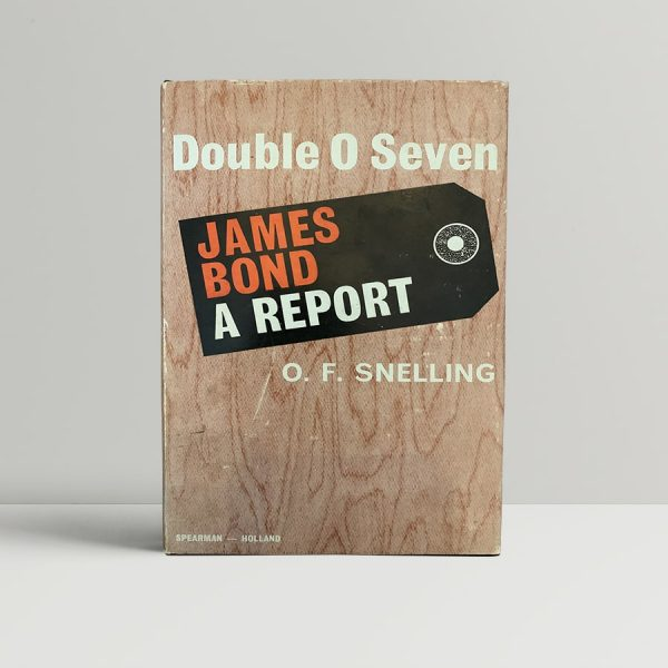 Snelling James Bond Report First Edition Signed