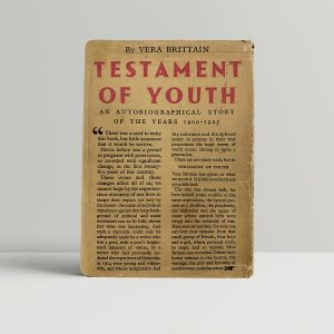 Vera Brittain Testament of Youth First Edition