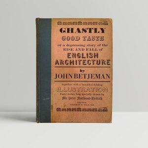 Betjeman Ghastly Good Taste First Edition