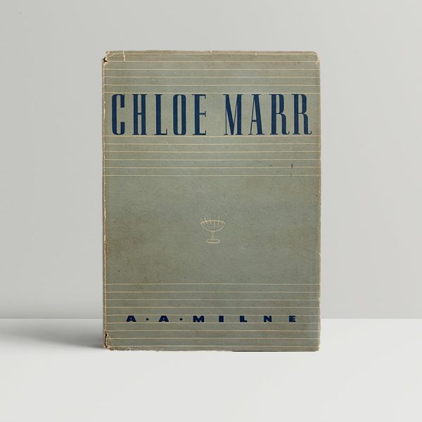Chloe Marr A A Milne First Edition Signed