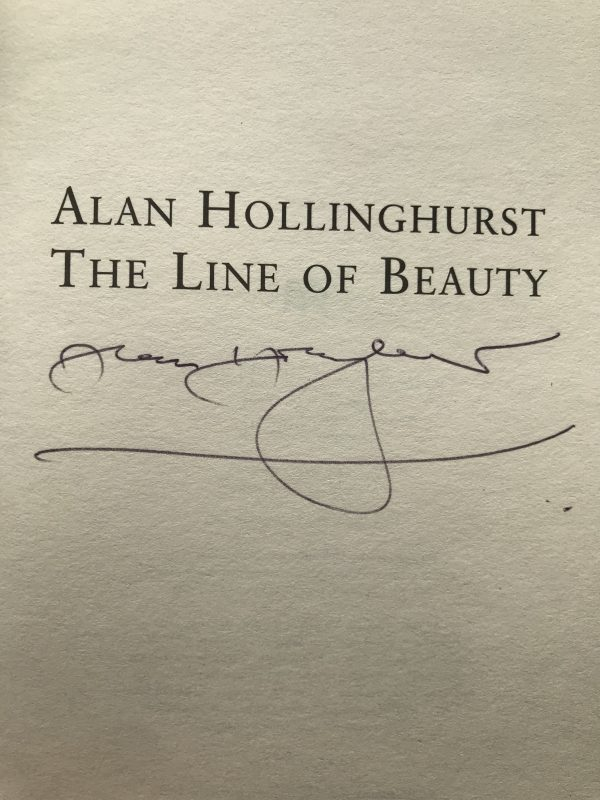 alan hollinghurst the line of beauty signed first edition2