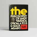 andy warhol the philosophy of andy warhol signed first edition1