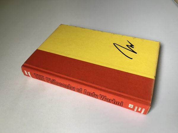 andy warhol the philosophy of andy warhol signed first edition3