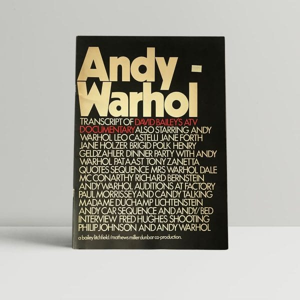 andy warhol transcript of david bailey atv documentary first edition1
