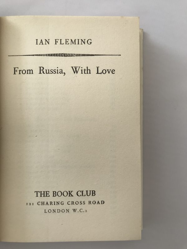 ian fleming from russia with love bookclub edition2