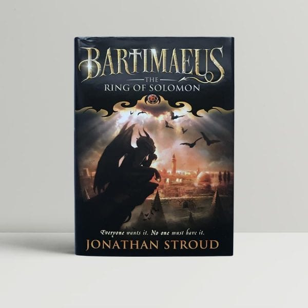 jonathan stroud bartimaus the ring of solomon signed first edition1