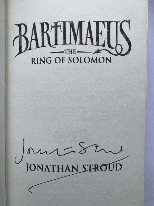 jonathan stroud bartimaus the ring of solomon signed first edition2