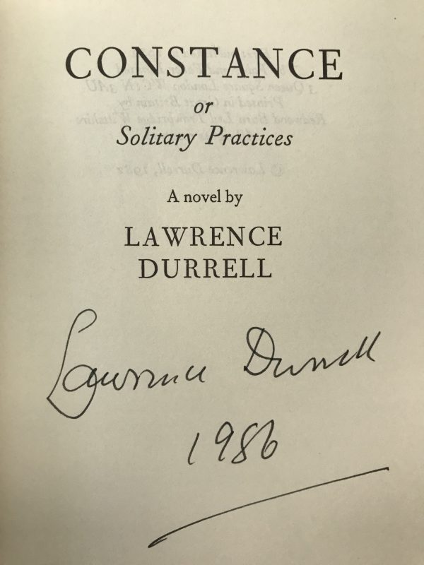 lawrence durrell the avignon quintet signed first edition set5