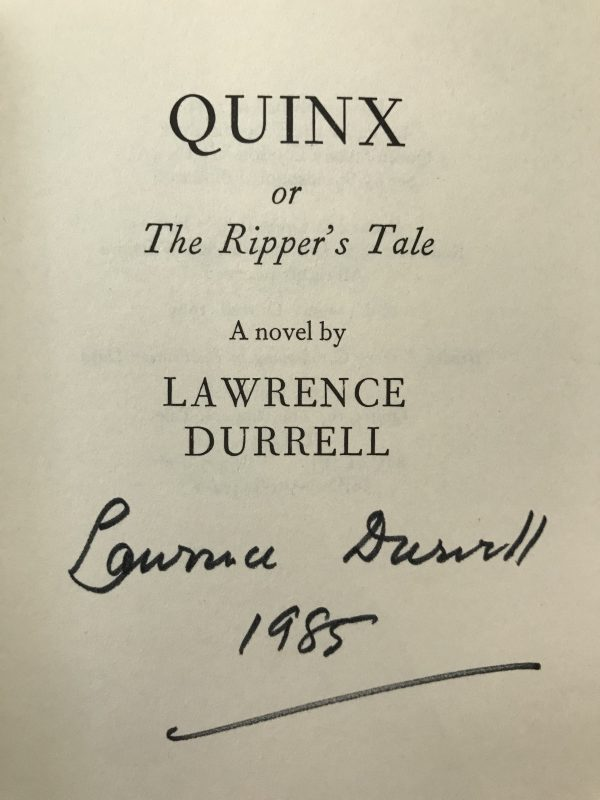 lawrence durrell the avignon quintet signed first edition set7
