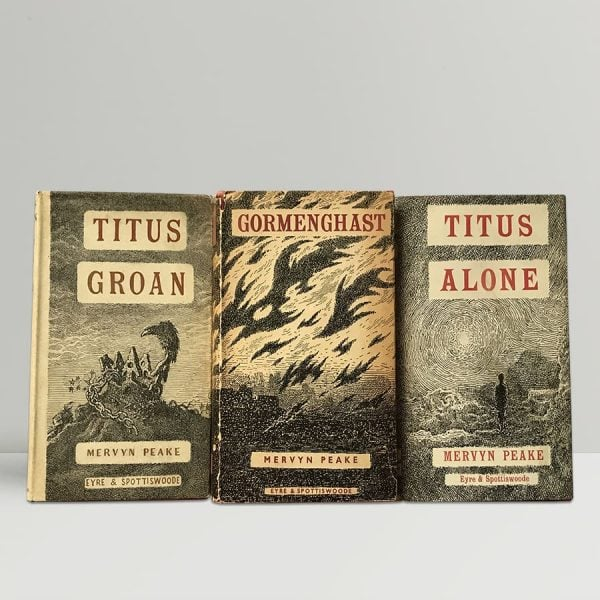 mervyn peake the gormenghast trilogy first uk editions