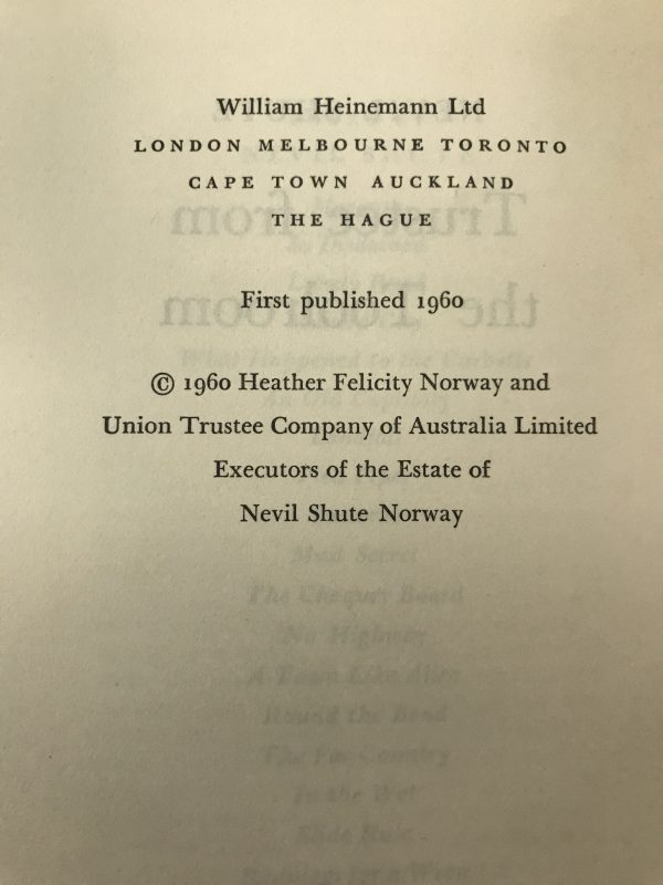 nevil shute trustee from the toolroom first edition2