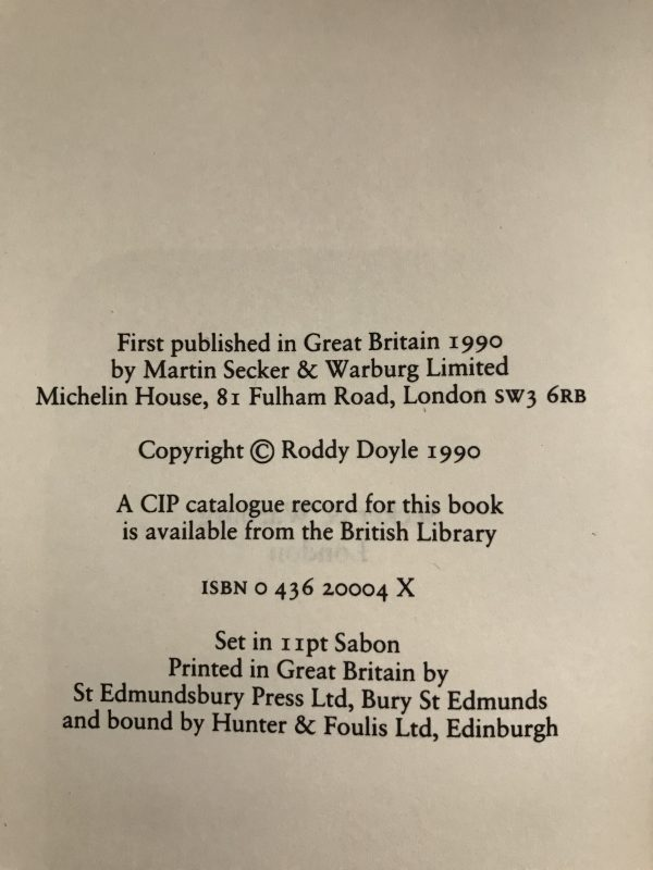 roddy doyle the barrytown trilogy first editions3
