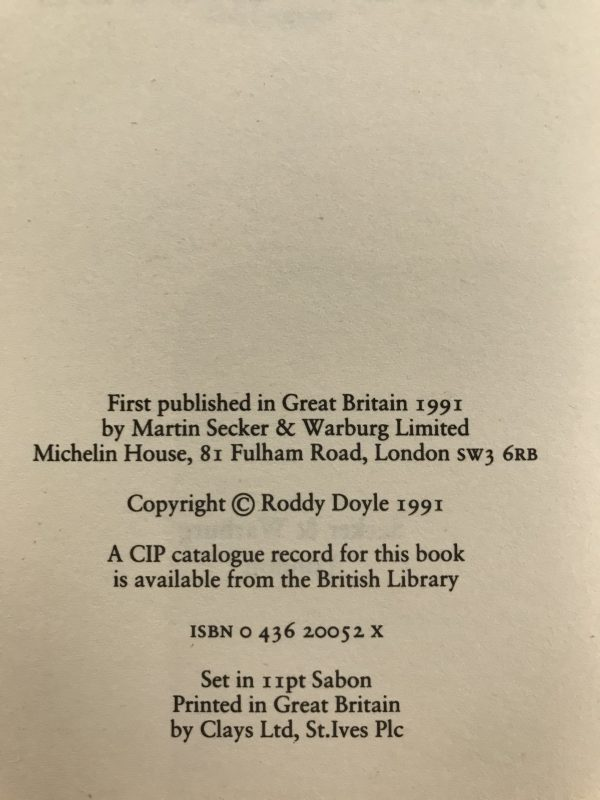 roddy doyle the barrytown trilogy first editions4
