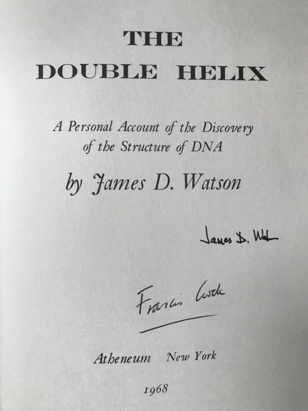 the double helix first edition double signed4