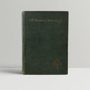 w somerset maugham of human bondage first uk edition