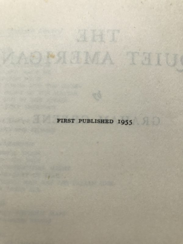 graham greene the quiet american first edition2