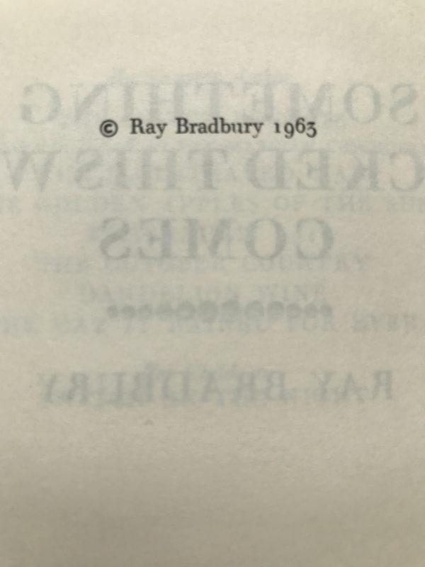 ray bradbury something wicked this way comes2