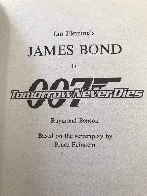 raymond benson tomorrow never dies first edition3