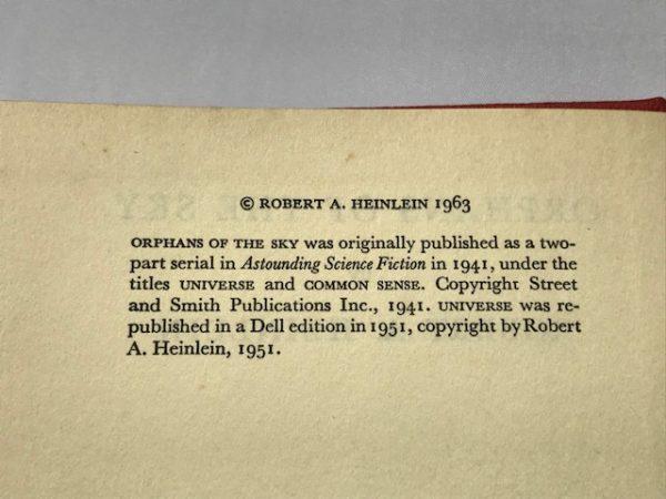 robert heinlein orphans of the sky first edition2