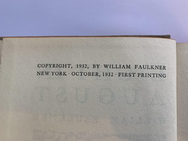 william faulkner light in august first us edition3