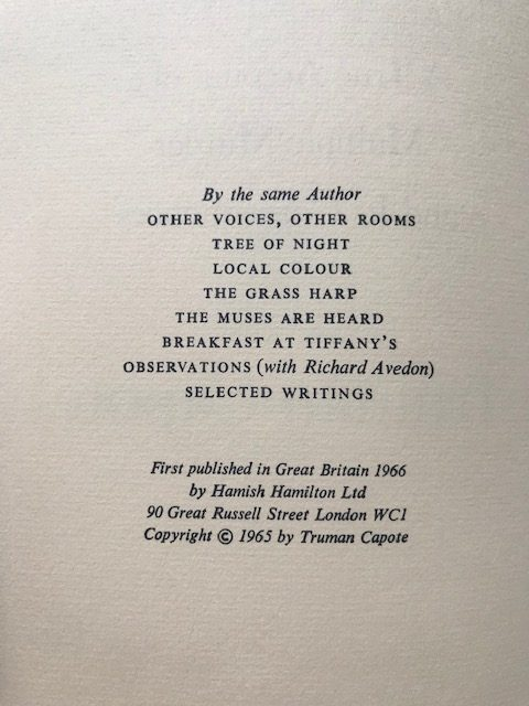 truman capote in cold blood first uk edition2