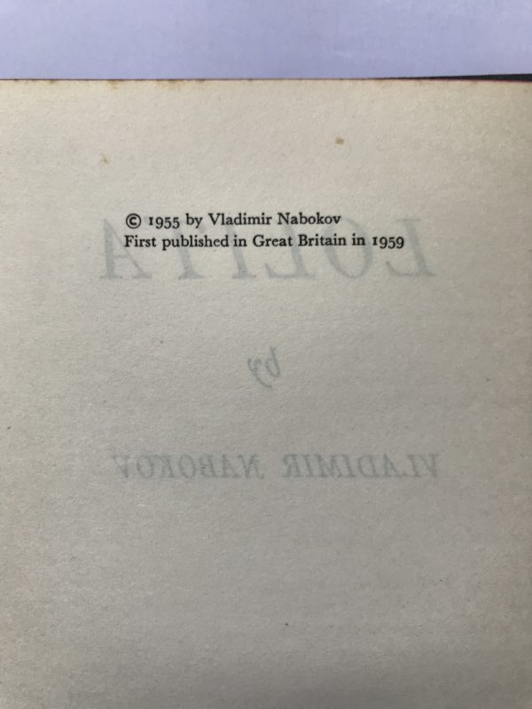 vladimir nabokov lolita first edition3 1